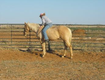 Her first time to ride her horse bareback and it became an awesome experience for both of them.